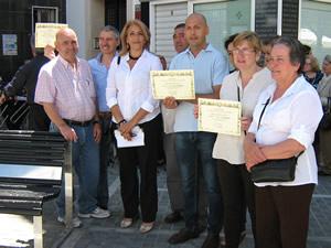 Representantes de las asociaciones premiadas, con la concejal de Cultura, Josefina Herrera (Foto: web municipal).