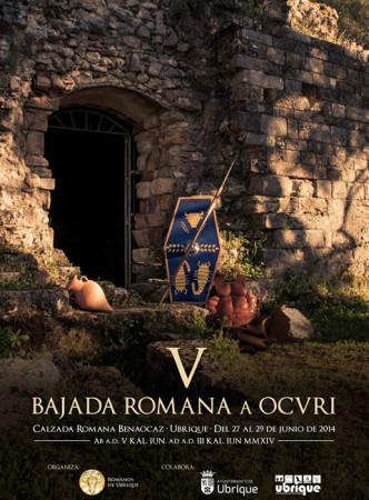 Cartel de la V Bajada Romana a Ocuri.