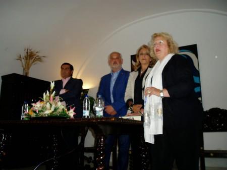 José Pulido, Manuel Toro, Josefina Herrera y Maribel Lobato, en la presentación.