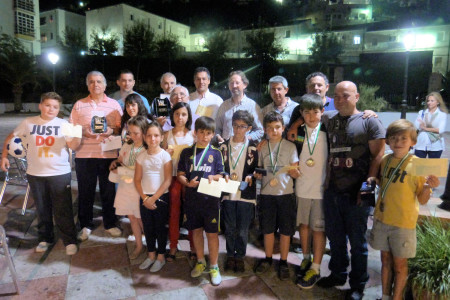 Premiados en el Torneo de Ajedrez de Primavera.