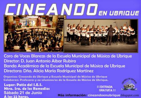 Cartel del concierto final de curso.
