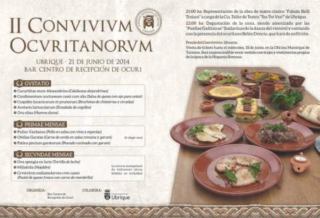 Cartel del II Convivivm Ocuritanorvm.