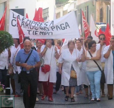 Manifestación de trabajadoras de ayuda a domicilio.