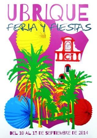 Cartel anunciador de la Feria y Fiestas de Ubrique 2014, de Manuel Ramírez