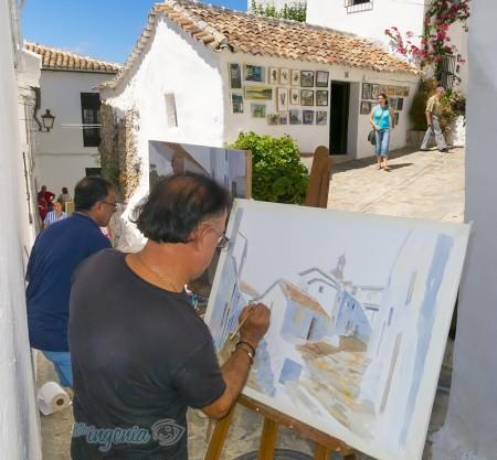 Pintores en el Callejón del Norte.