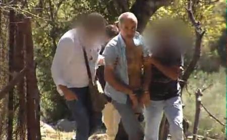 El presunto parricida, en el momento de su detención