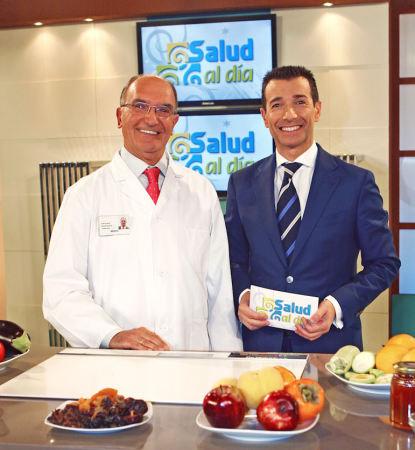 Antonio Rodríguez Carrión y Roberto Sánchez Benítez, en la grabación del programa.