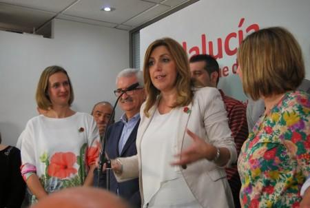 Susana Díaz se dirige a los asistentes al acto.