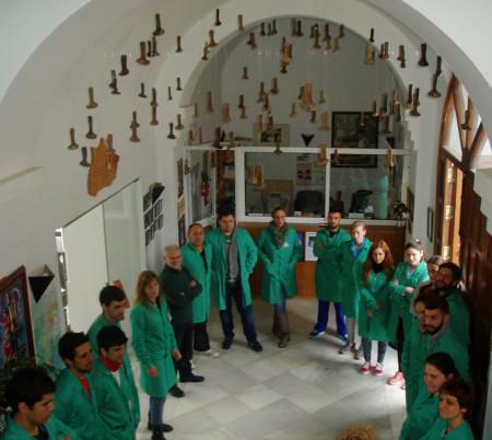 Participantes en la visita (Foto: Paco Solano).