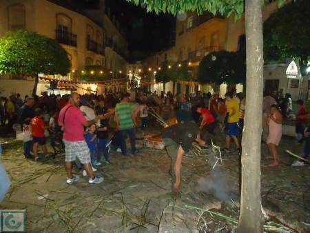 Crujid de gamones en la Plaza de la Verdura el 2 de mayo de 2015.