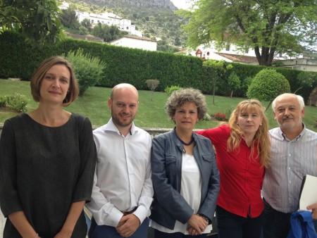 Los cinco candidatos a la alcaldía (Foto: Radio Ubrique).