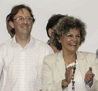 Pepi Gloria Pérez y Antonio Medina (AICU). Foto: Radio Ubrique.