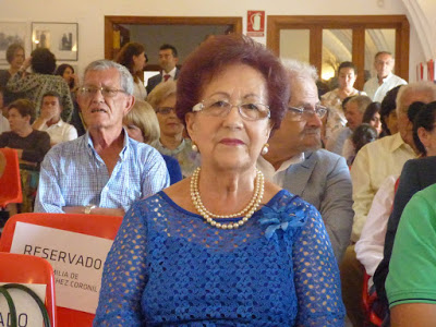 Ana Moreno Guerrero, distinguida por su trayectoria como petaquera (Foto: Paco Solano).