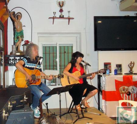 Carmen Morales y Antonio Reina, en el concierto de la Peña Sevillista.