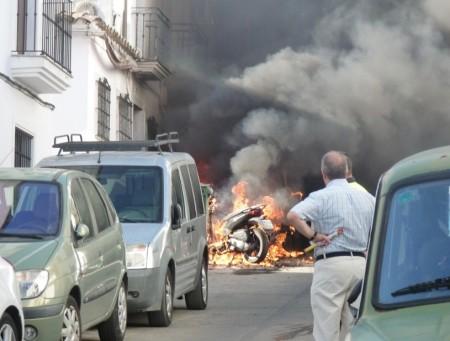 Incendio en la calle Nueva.