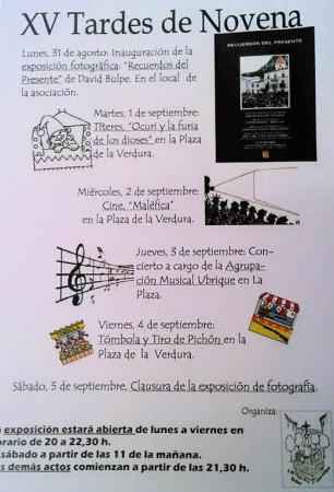 Cartel de las XV Tardes de Novena.