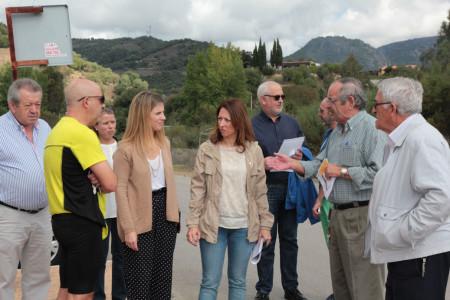 Los representantes del PP, en su visita a Coto Mulera.