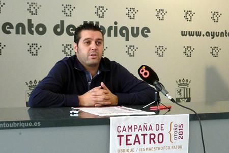 El concejal de Cultura, José Manuel Fernández Rivera, en la presentación de la campaña.