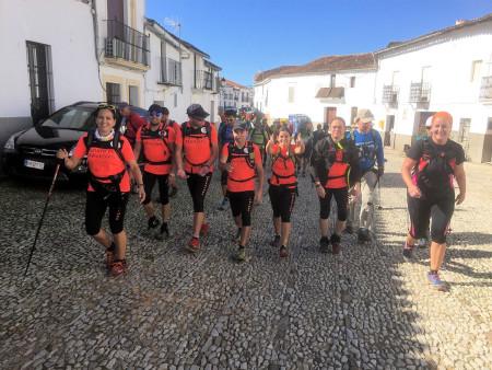 Integrante de Ubrique durante el recorrido por la provincia de Huelva.
