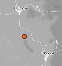 Localización del epicentro.