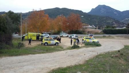 Dispositivo de bomberos, Guardia Civil y Policía local.