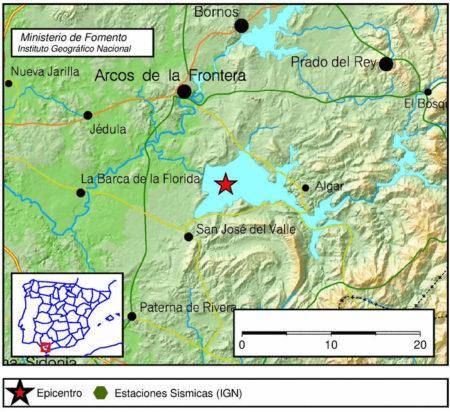 Mapa de localización del sismo.