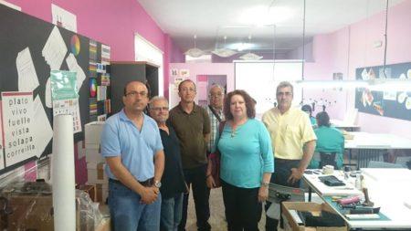 Representantes de la Escuela de Artesanos y de UGT.