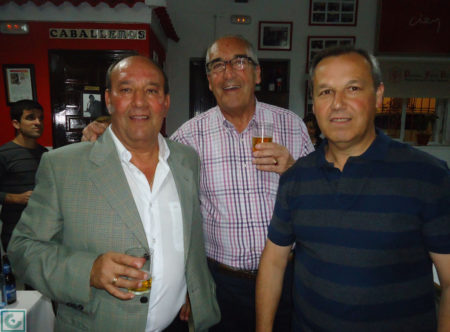 Sanjosé, con los socios Ignacio Pan y Bartolomé Fabero.