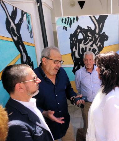El pintor Antonio Rodríguez Agüera, los escritores Antonio García Barbeito y José Manuel Benítez Ariza y la periodista Mª Ángeles Robles.