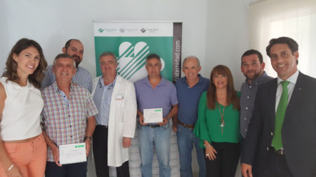 Representantes de las empresas galardonadas y técnicos de la entidad patrocinadora.