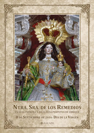 Cartel de la Virgen de los Remedios.