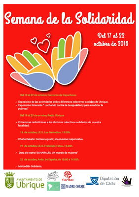 Cartel de la Semana de la Solidaridad.