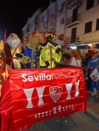 Carroza de los Reyes Magos de la Peña Sevillista.