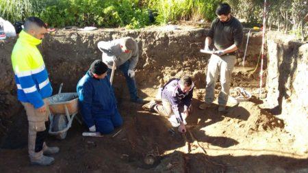 Trabajos dirigidos por el arqueólogo Jesús Román Román.