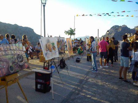 Concurso de pintura rápida de bodegones al aire libre en Benaocaz