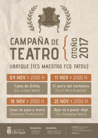 La Campaña de Teatro de Otoño, del 4 al 25 de noviembre en el IES Maestro Francisco Fatou