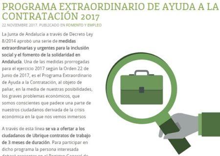 El Ayuntamiento anuncia un programa de contratos de tres meses con apoyo de la Junta