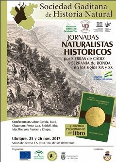 Jornadas sobre Naturalistas Históricospor Sierras de Cádiz y Serranía de Ronda en los siglos XIX y XX, el sábado 25 y el domingo 26 de noviembre en el IES Nuestra Señora de los Remedios