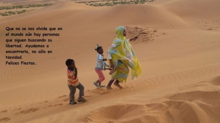 Felicitación navideña de la Asociación de Solidaridad con el Pueblo Saharaui 'Tierra Libre' de Ubrique