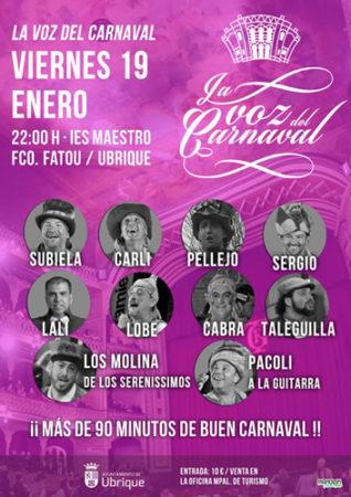 La voz del Carnaval, el 19 de enero en el IES Maestro Francisco Fatou
