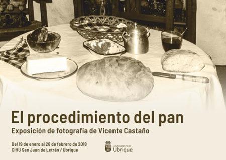Exposición de fotografías de Vicente Castaño sobre el proceso de elaboración del pan