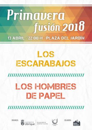El espectáculo musical 'Primavera Fusión 2018', el 13 de abril en el Jardín