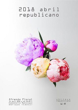 Ofrenda floral a las víctimas del franquismo, el sábado 14 de abril en el cementerio