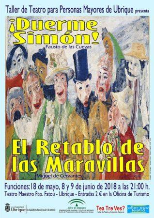 Representación teatral de '¡Duerme Simon!' y 'El Retablo de las Maravillas' el viernes 18 de mayo en el IES Maestro Francisco Fatou