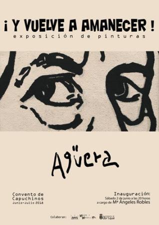 Agüera expone en el Convento 20 obras de gran formato con el título de ¡Y vuelve a amanecer!