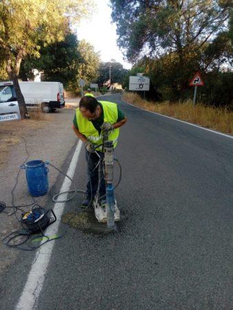 Obras de reparación de la carretera A-373, entre los kilómetros 32,8 y 41,4, con trazado alternativo desde el 6 de agosto