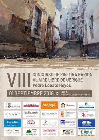 El VIII Concurso de Pintura Rápida al Aire Libre de Ubrique Pedro Lobato Hoyos, el sábado 1 de septiembre en el casco antiguo