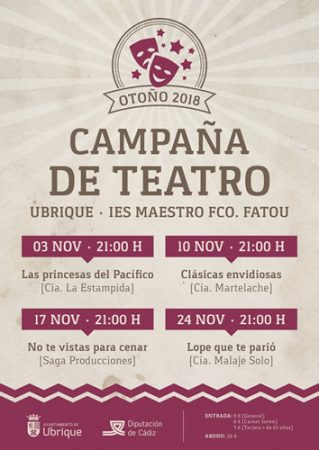 La campaña de teatro, del 3 al 24 de noviembre
