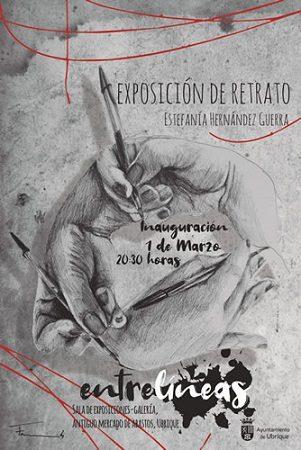 Exposición de retratos de Estefanía Hernández Guerra, en la galería de arte del antiguo mercado, hasta el 31 de marzo