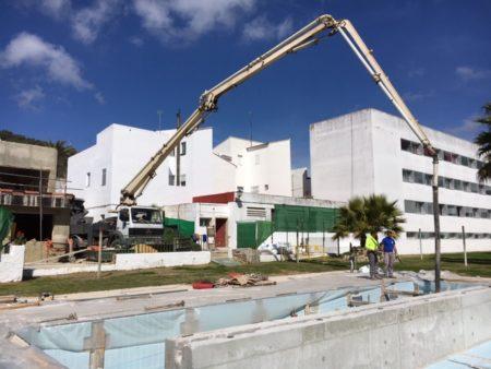 Supervisadas las obras del plan de adecuación y mejora de instalaciones y espacios deportivos